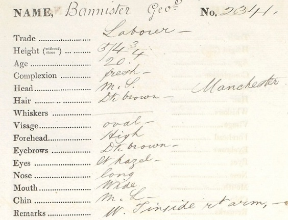 Convict Description (Tasmanian Archives and Heritage Office CON 18-1-4)