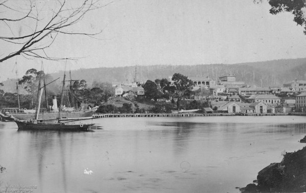Port Arthur c1874. Photograph by Alfred Winter.